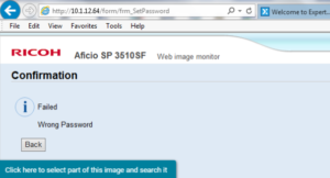 default username and password ricoh